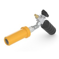 WEH® Fuelling Nozzle TK10 CNG for fast filling of cars (NGV1), grip position 45°, 250 bar