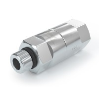 """WEH® Filter TSF1 CNG for fuelling stations as prefilter,  internal thread / external thread UNF 9/16""""-18, 40 micron, 250 bar"""