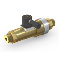 WEH® High Pressure Valve TV17GE for inert gases, manual actuation, shut-off valve with automatic venting, DN12, 420 bar