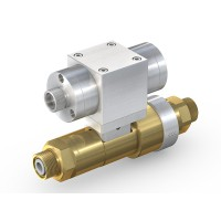 WEH® High Pressure Valve TV17GER for inert gases, pneumatical actuation, shut-off valve with automatic venting and check valve, DN12, NC, 420 bar