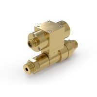 WEH® Shut-off Valve TV17GO for inert gases, pneumatical actuation, 420 bar