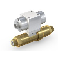 WEH® High Pressure Valve TV17GR for inert gases, pneumatical actuation, shut-off valve with check valve, DN12, NC, 420 bar