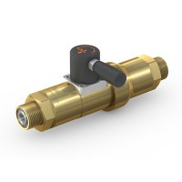 WEH® High Pressure Valve TV17GR for inert gases, manual actuation, shut-off valve with check valve, DN12, 420 bar