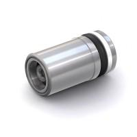 "WEH® Cartridge Check Valve TVR2, Inlet UNF 1/4""-28 internal thread, Outlet Ø 8 mm, stainless steel 1.4305, FFKM, DN 4 mm"