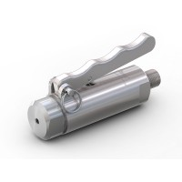 """WEH® Connector TW141 for straight tubes, tube OD 7.9 mm (5/16""""), lever actuation, vacuum up to max. 100 bar"""