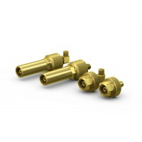 WEH® Connector TW67 for filling of gas cylinders with male thread, connection by hand-tightening, max. 250 bar / max. 375 bar